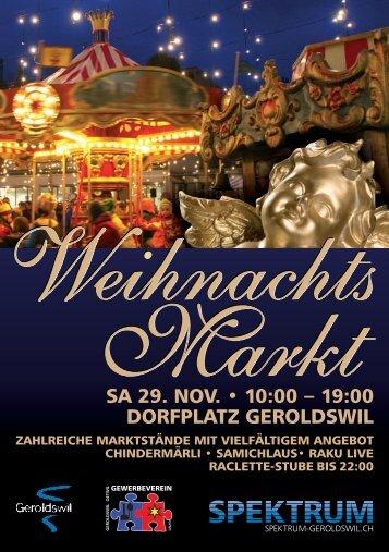 Flyer Weihnachtsmarkt - Spektrum Geroldswil