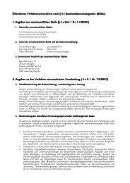 Öffentliches Verfahrensverzeichnis
