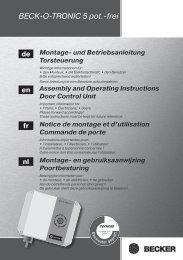 BECK-O-TRONIC 5 pot.-frei Montage- und Betriebsanleitung ...