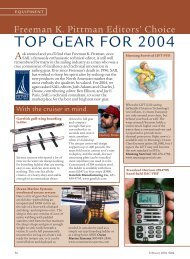 TOP GEAR FOR 2004 - Sail Magazine