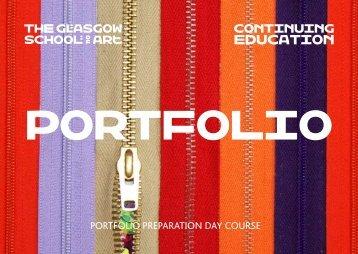 Continuing Education Portfolio Day Brochure - Glasgow School of Art