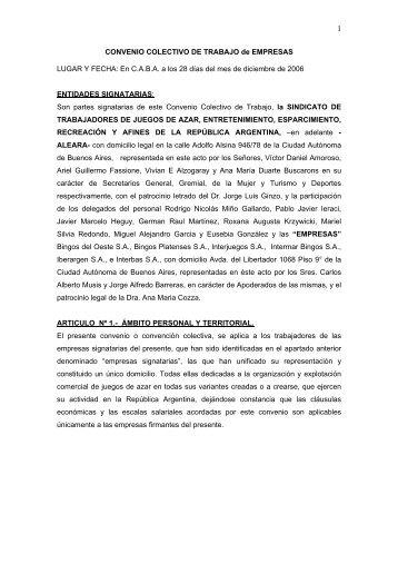 CONVENIO COLECTIVO DE TRABAJO de EMPRESAS ... - ALEARA