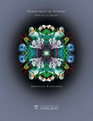 Advancing Knowledge - The Department of Surgery - University of ...