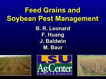 Feed Grains and Soybean Pest Management
