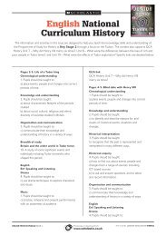 English National Curriculum History (continued) - Scholastic