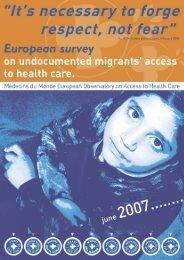 Health-Migration Steering Committee of the Médecins du Monde ...