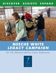 MEECHE WHITE LEGACY CAMPAIGN - National Ability Center