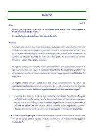 PROGETTO - Marketing sociale e Comunicazione per la salute