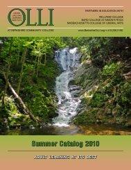 Summer Catalog 2010 Summer Catalog 2010 - BerkshireOLLI.org