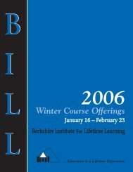 BILL Winter 04 catalog - Osher Lifelong Learning Institute at BCC