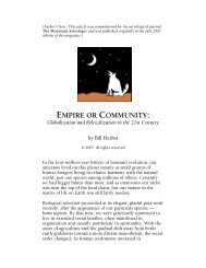 EMPIRE OR COMMUNITY: - Bill Herbst, astrologer