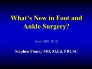 Evidence-Based Medicine in Foot and Ankle Surgery