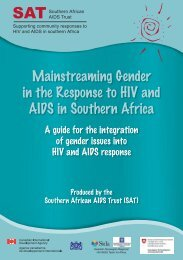 Mainstreaming Gender in the Response to HIV and AIDS in ...