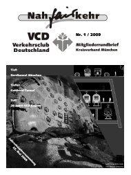 nahfairkehr 2009 - Verkehrsclub Deutschland Kreisverband ...