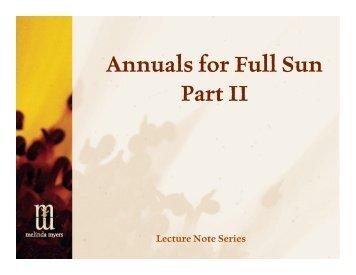 Annuals for Full Sun Part II - Melinda Myers