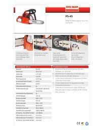 Technische Daten Produktmerkmale - Zimmermann AG