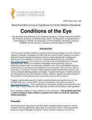 Conditions of the Eye - American Academy of Family Physicians