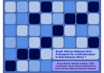 South African National Grid : A blueprint for e-Infrastructure in Sub ...