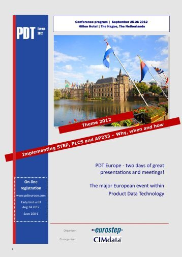 Please click here for programme - PDT Europe 2013