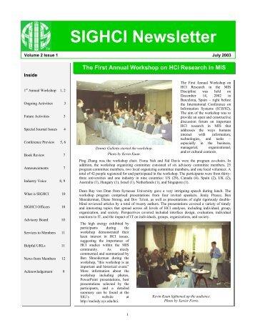 Volume 2, Issue 1, July 2003 - sighci