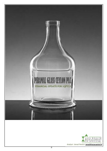 PIRAMAL GLASS CEYLON PLC - Asia Securities Broker Firms