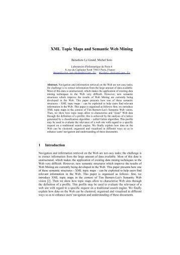 XML Topic Maps and Semantic Web Mining - CiteSeerX