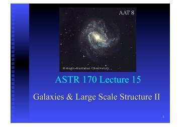 ASTR 170 Lecture 15