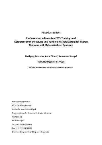 Abschlussbericht Einfluss eines adjuvanten EMS-Trainings auf ...