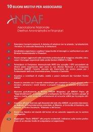 Scarica modulo di adesione - Andaf