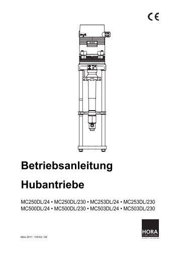 Betriebsanleitung Hubantriebe - HORA