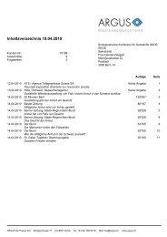 Pressespiegel nationale Eröffnung 13.04.10 in Bern - Im Fall