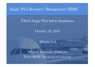 Single Pilot Resource Management (SRM) - NBAA