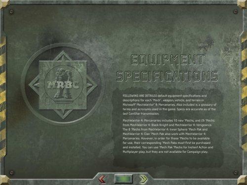 MechWarrior 4 - Mercenaries - Equipment     - Roms4Droid