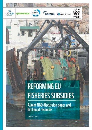 Reforming EU Fisheries Subsidies - Natuurpunt