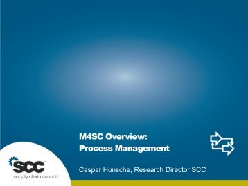 M4SC Process Layer - Supply Chain Council