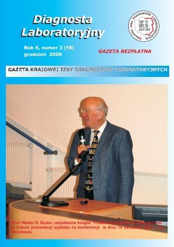 gazeta 18 wersja 2.cdr - Krajowa Izba Diagnostów Laboratoryjnych