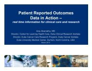 Patient Reported Outcomes Data in Action – Real Time Information ...