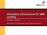 Information Infrastructure for SME Lending - World Bank