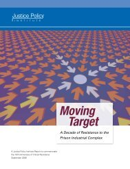 Moving Target: A Decade of Resistance to the - Justice Policy Institute