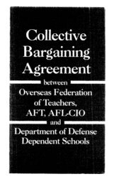 OFT Collective Bargaining Agreement - DoDEA