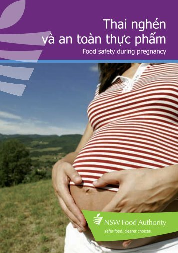 Brochure | Food safety during pregnancy (Vietnamese) - NSW Food ...