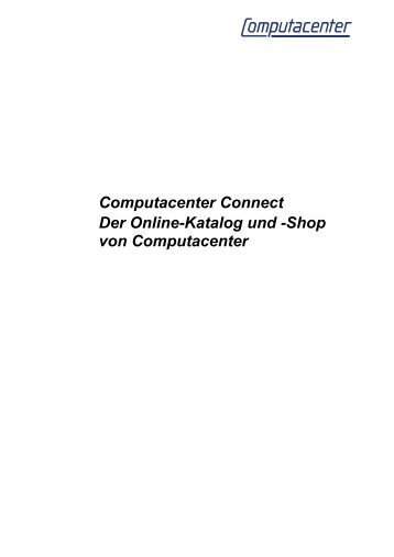 Computacenter Connect Der Online-Katalog und -Shop von ...