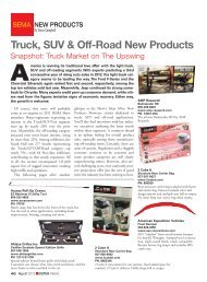 Truck, SUV & Off-Road New Products - Sema