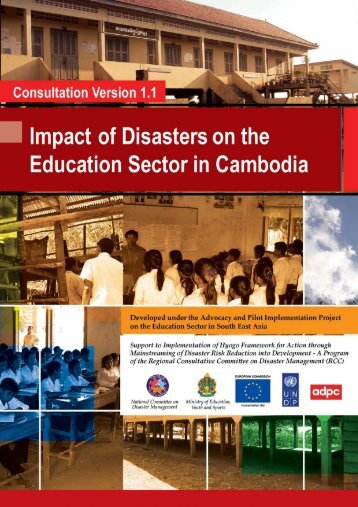 Impact of Disasters on the Education Sector in Cambodia