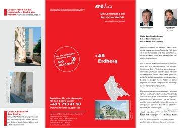 Viertelskonzept Alt-Erdberg - SPÖ Landstrasse