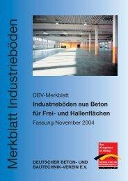 Industrieböden aus Beton für Frei- und Hallenflächen - Deutscher ...