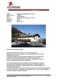 www.alpeimmo.at, E-mail: office@alpeimmo.at Objekt: Ehemaliges ...