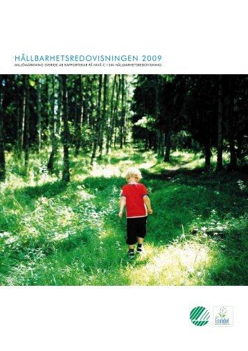 HåLLBARHETSREDOVISNINGEN 2009 - Svanen
