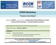 "Meeting title: ESPEN Workshop on ""Protein in the Elderly ..."
