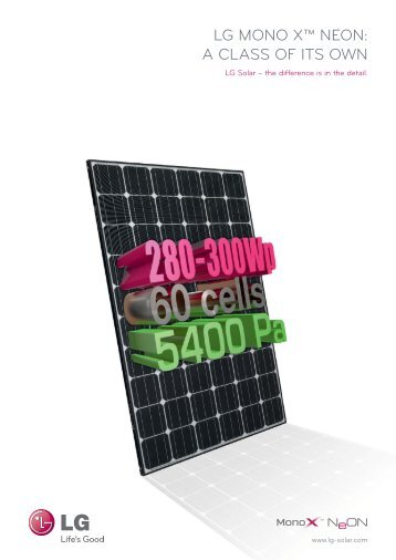 LG MONO X™ NEON: A CLASS OF ITS OWN - www.solar-center.lu
